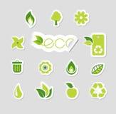 Jogo de ícones da ecologia Imagem de Stock
