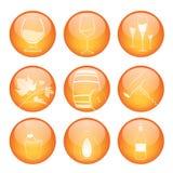 Jogo de ícones da esfera da adega Fotos de Stock