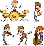 Jogo de ícones da música ilustração royalty free