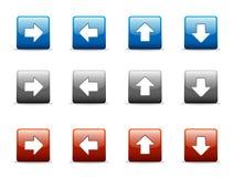 Jogo de ícones da seta direcional Imagens de Stock Royalty Free