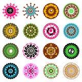Jogo de ícones das flores ilustração do vetor