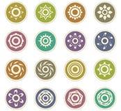 Jogo de ícones de Sun Fotografia de Stock Royalty Free