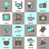 Jogo de ícones do curso Fotos de Stock