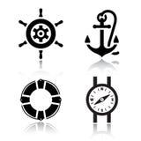 Jogo de ícones do curso Imagens de Stock