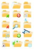 Jogo de ícones do dobrador Foto de Stock