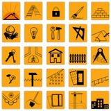 Jogo de ícones do edifício Imagens de Stock Royalty Free