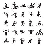 Jogo de ícones do esporte Imagem de Stock Royalty Free