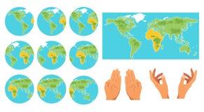 Jogo de ícones do globo ilustração do vetor