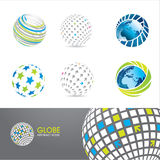Jogo de ícones do globo ilustração stock
