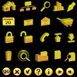 Jogo de ícones do Internet 3d Imagem de Stock