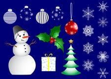 Jogo de ícones do Natal. vetor. ilustração royalty free