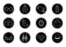 Jogo de ícones do vetor Fotografia de Stock
