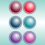 Jogo de ícones do vetor Imagens de Stock