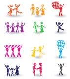 Jogo de ícones dos povos Imagem de Stock