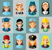 Jogo de ícones dos povos Imagem de Stock Royalty Free
