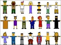 Jogo de ícones dos povos Ilustração Royalty Free
