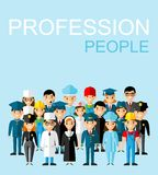 Jogo de ícones dos povos Foto de Stock