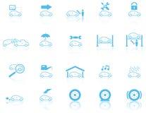 Jogo de ícones gerais da manutenção do motor Fotografia de Stock