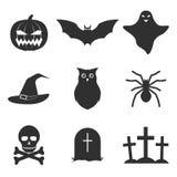 Jogo de ícones de Halloween Imagem de Stock