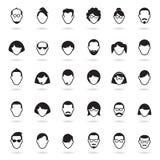 Jogo de ícones humanos ilustração stock