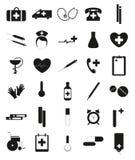 Jogo de ícones médicos Fotografia de Stock Royalty Free