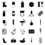 Jogo de ícones médicos Imagens de Stock Royalty Free