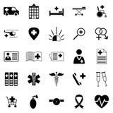 Jogo de ícones médicos Imagens de Stock