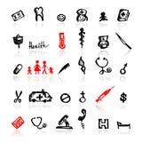 Jogo de ícones médicos, esboço para seu projeto Imagens de Stock