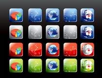 Jogo de ícones móveis da aplicação Imagem de Stock