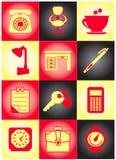 Jogo de ícones originais do negócio Imagens de Stock