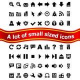 Jogo de ícones pequenos do Web Fotos de Stock