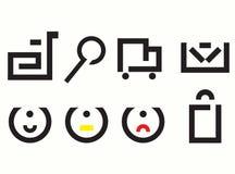 Jogo de ícones simples ilustração do vetor