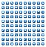 Jogo de 100 ícones para o Web e a relação