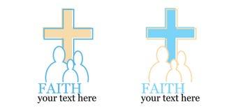 Jogo de 2 logotipos com tema transversal/religioso Foto de Stock Royalty Free