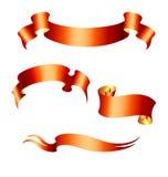 Jogo de 4 bandeiras vermelhas ilustração do vetor