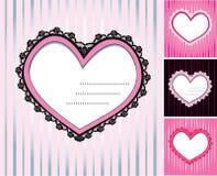 Jogo de 4 corações Fotos de Stock Royalty Free