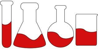 Jogo de 4 recipientes da ciência Imagem de Stock