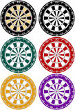 Jogo de 6 Dartboards Fotos de Stock