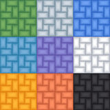 Jogo de 9 testes padrões sem emenda abstratos do vetor Fotos de Stock Royalty Free