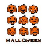 Jogo de abóboras de Halloween ilustração royalty free