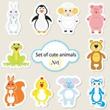 Jogo de animais bonitos - 1 Fotos de Stock