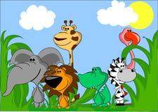 jogo de animais bonitos diferentes Fotos de Stock Royalty Free