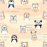 Jogo de animais bonitos Personagens de banda desenhada Vetor fotografia de stock