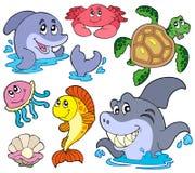 Jogo de animais marinhos Fotos de Stock Royalty Free