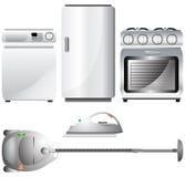 Jogo de aparelhos electrodomésticos realísticos, detalhados Foto de Stock Royalty Free