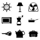 Jogo de aparelhos electrodomésticos Vetor liso Fotos de Stock