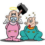 Jogo de Babys Imagens de Stock Royalty Free