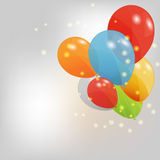 Jogo de balões coloridos, ilustração do vetor. EPS Imagem de Stock Royalty Free