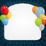 Jogo de balões coloridos, ilustração do vetor. EPS Foto de Stock Royalty Free