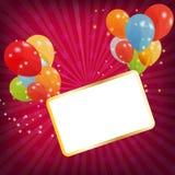 Jogo de balões coloridos, ilustração do vetor. EPS Imagens de Stock